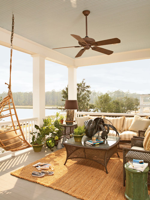 Upstairs balcony living room home design ideas pictures for Beach house designs living upstairs
