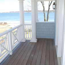 Beach Style Porch by Matthew Korn Architecture AIA