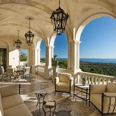 Mediterranean Patio by Giffin & Crane General Contractors, Inc.