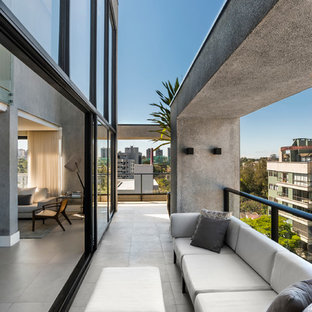Inspiration for a contemporary balcony in Other.