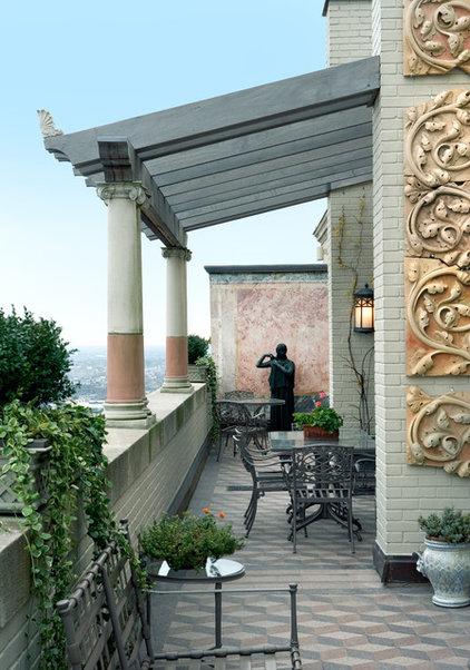 Mediterranean Porch by Eberlein Design Consultants