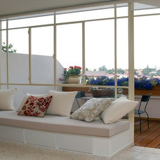 Contemporary Deck Contemporary Living Room