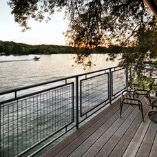 Traditional Porch Cord Shiflet Lake Austin Residence