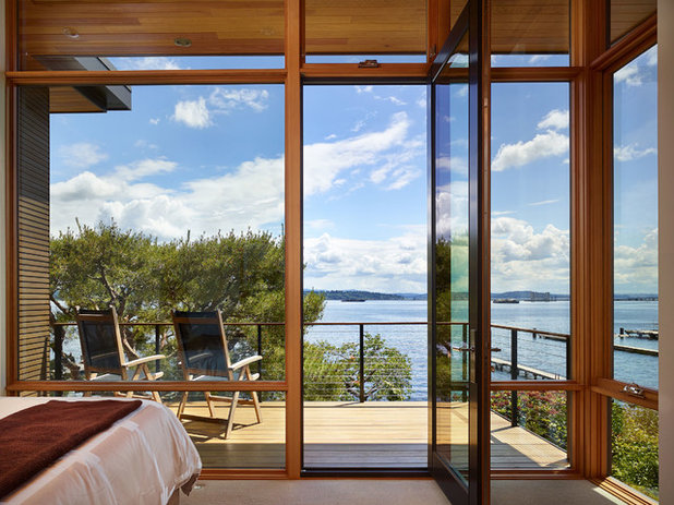Contemporary Balcony by DeForest Architects