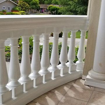 Curved Polyurethane Balcony Railing