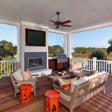 Beach Style Porch by Structures Building Company