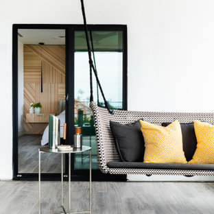 Eclectic Modern - Master Patio & Stairwell