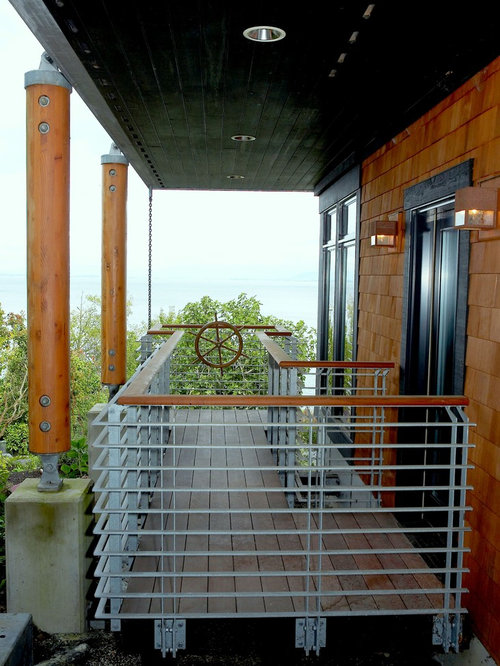 Ship wheel houzz for Balcony modern