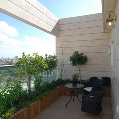 mediterranean patio by NURIT GEFFEN-BATIM STUDIO