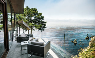 houzz tours houzz tour hugging the rocky cliffs in big sur mitchell ...