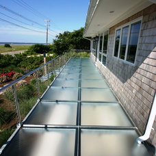 Contemporary Porch by Lucid Glass Studio