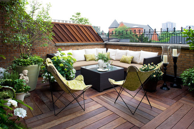 Traditional Balcony by Terra Firma Design