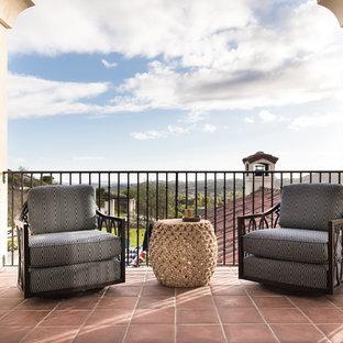 Tuscan metal railing balcony photo in Orange County