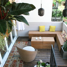 Contemporary Porch by Little Miracles Designs