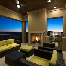 Contemporary Porch by Mary DeWalt Design Group