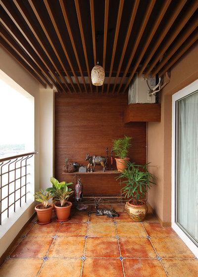 Contemporary Balcony by Nirvana Design Studio