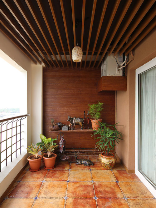 Balcony ideas design photos houzz for Balcony decoration ideas india