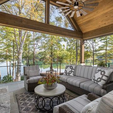 Lake Keowee, SC Custom Home Porch