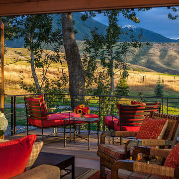 Lazy Heart Ranch | Living Room Deck