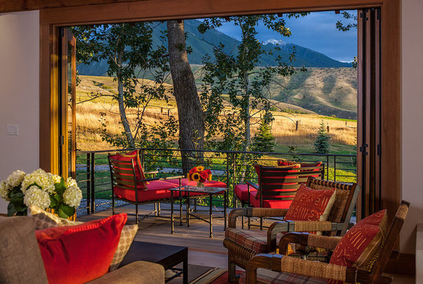 Rustic Balcony by Dovetail Construction