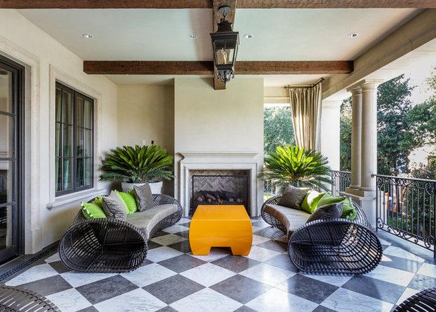 Mediterranean Balcony by Bob Thompson Homes