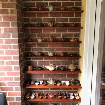 Mahogany shelves