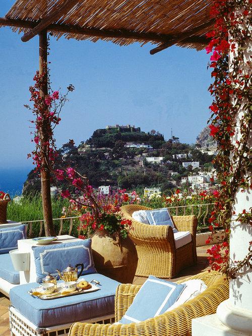 Mediterranean Outdoor Design Ideas Amp Remodel Photos With A