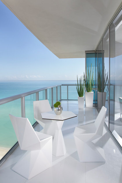 Contemporary Porch by Britto Charette Interiors - Miami Florida