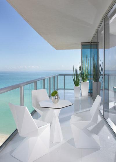 Contemporary Balcony by Britto Charette - Interior Designers Miami , FL