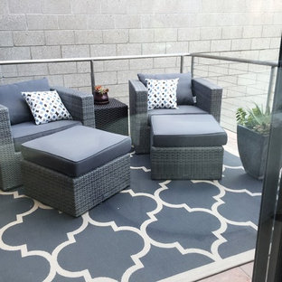 Balcony - small industrial balcony idea in San Diego with no cover