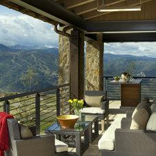 Modern Porch by Slifer Designs