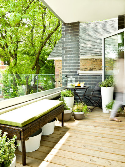 Classique Chic Balcon My Houzz: An Opposite-Tastes Couple Finds a Happy Medium