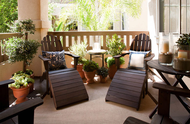 Beach Style Balcony by Jessica Bennett Interiors