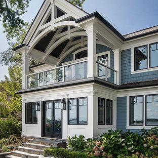 Diseño de balcones de estilo americano grande