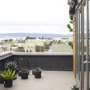 This is an example of a contemporary balcony in San Francisco with no cover.