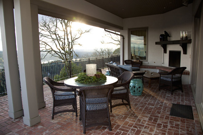Traditional Patio by Whitney Lyons