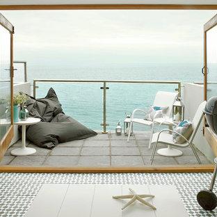 Idee per piccoli terrazze e balconi costieri con nessuna copertura
