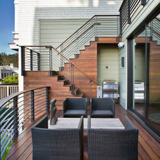 contemporary deck by Marla Schrank Interiors