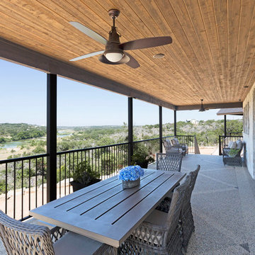 Ranch Home Deck Overlooking the River