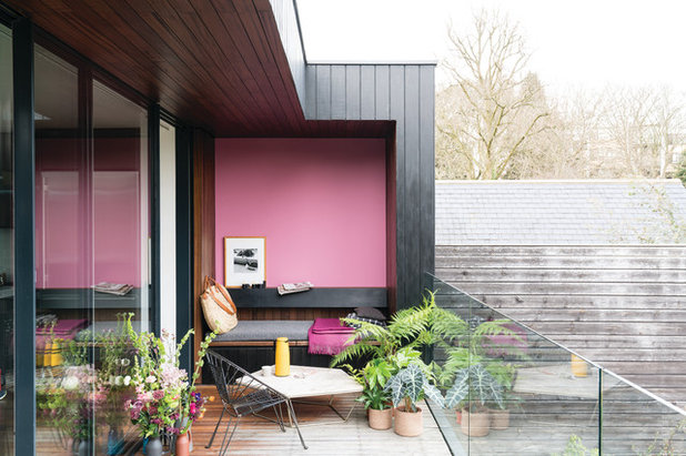 Contemporary Balcony by Farrow & Ball