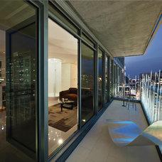 Contemporary Deck by Kariouk Associates