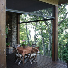 Eclectic Porch by Phantom Screens
