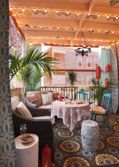 Eclectic Porch by DANE AUSTIN DESIGN