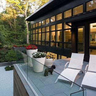 Esempio di un balcone minimal con nessuna copertura
