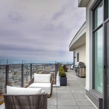 Sleek Penthouse - Balcony