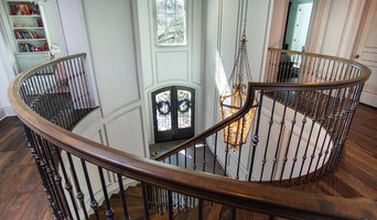 South Tampa Custom Curved Staircase with Balcony Railing