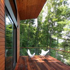 Contemporary Deck by Rusafova Markulis Architects