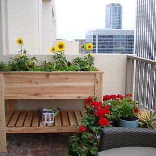 Foto de balcones contemporáneo, pequeño, sin cubierta