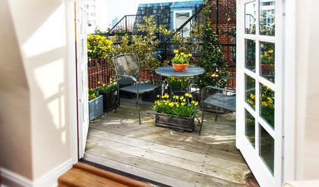Der Balkon im Frühling: Das ist jetzt zu tun