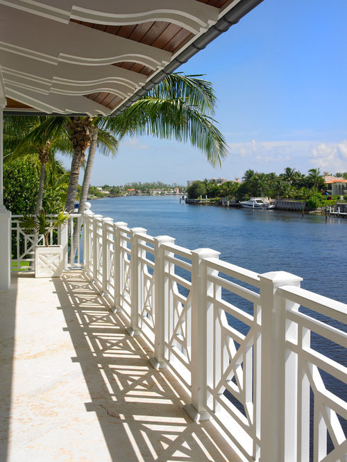 Waterfront fence home design ideas renovations photos for Waterfront deck designs